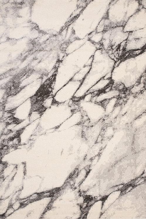 Smoke Cream Grey Marble 8x11 Rug