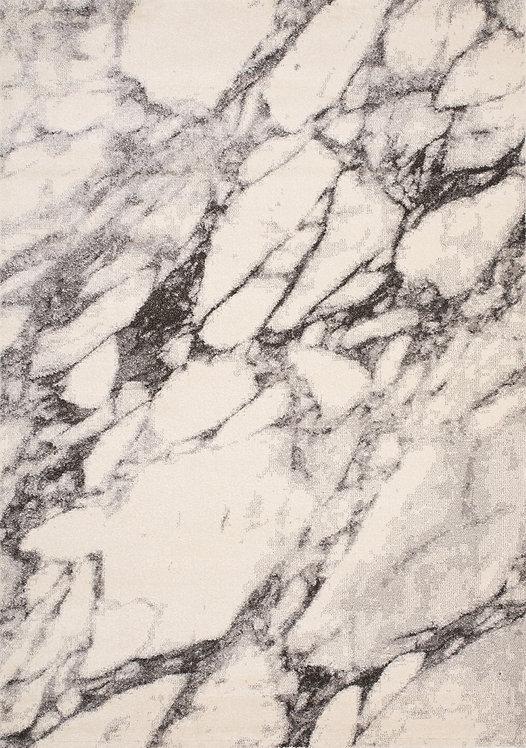 Smoke Cream Grey Marble 5x8 Rug