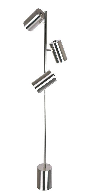 Hendrix Floor Lamp - Brushed Steel