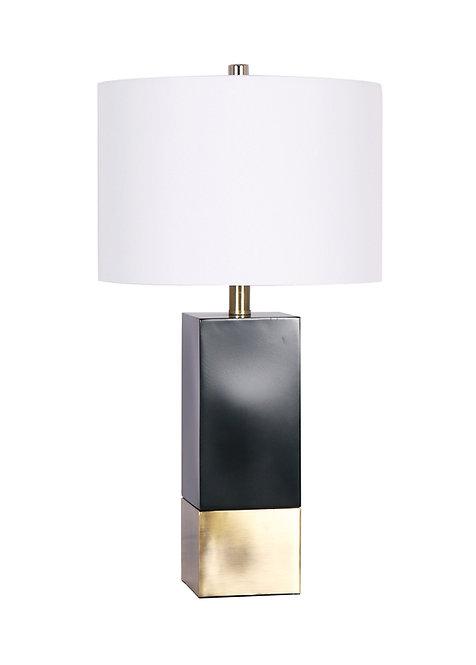 Mercedes Table Lamp - Black & Brushed Gold