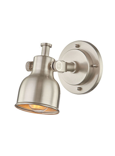 Troy Wall Sconce - Brushed Steel