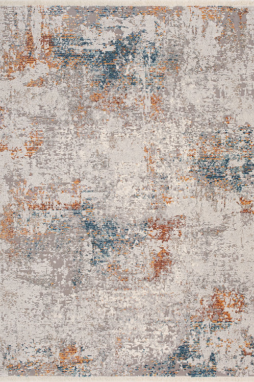 Ethan Grey Distressed 8x11 Rug