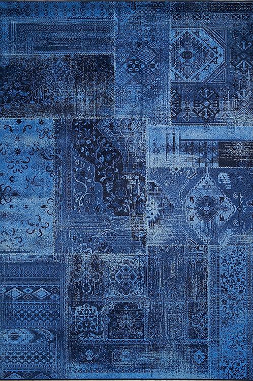 Alma Deap Blue Modern 5x8 Rug