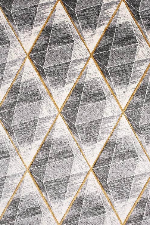 Tista Grey Yellow Geometric 5x8 Rug