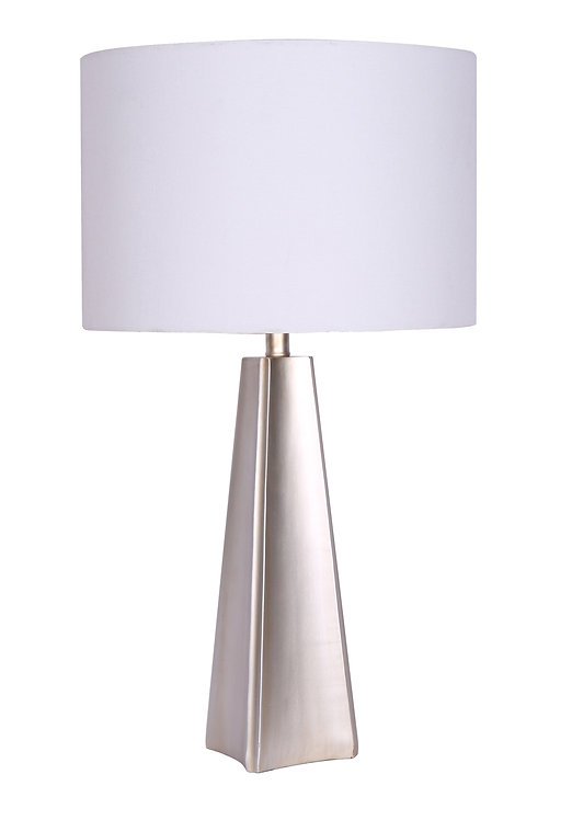 Resin Table Lamp - Brushed Steel