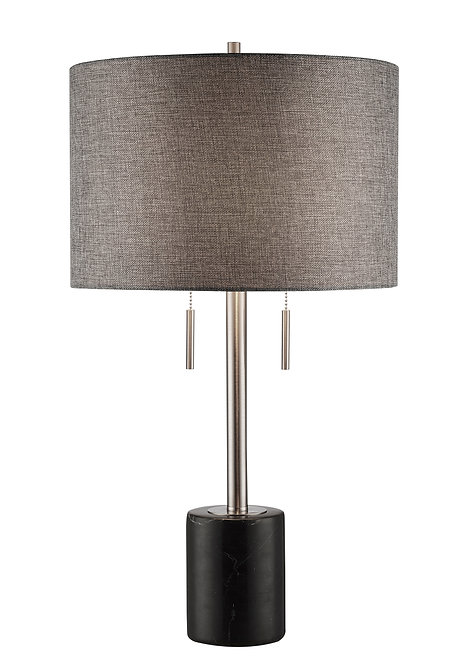 Mila Table Lamp - Black Marble