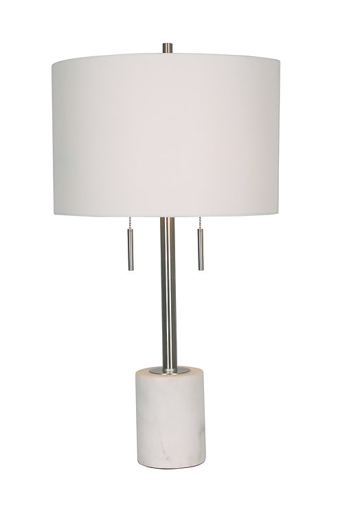 Mila Table Lamp - White Marble