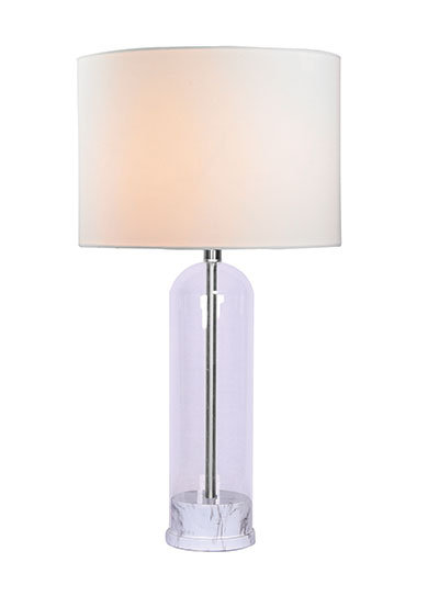 Jenna Table Lamp - White Marble