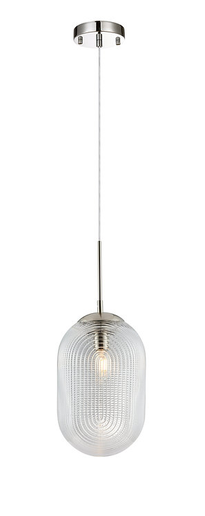Tokyo Etched Glass Pendant - Clear Glass
