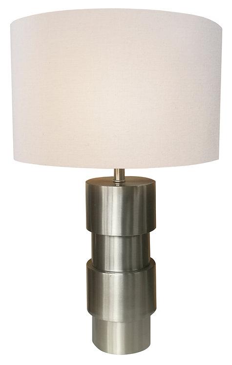 Quarrel Accent Table Lamp - Brushed Steel