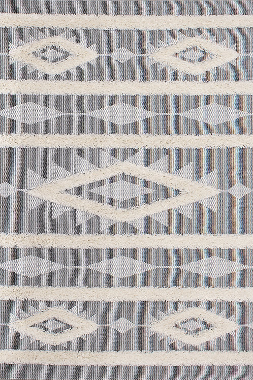 Nomad Grey Cream Aztec 5x8 Rug