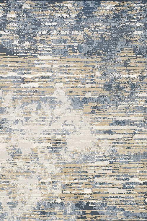Jade Beige/Blue Distressed 5x8 Rug