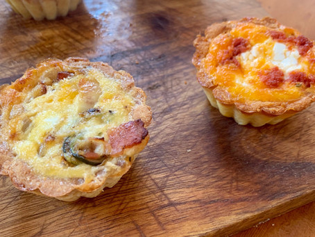 Mini-quiches que te comerás de un bocado