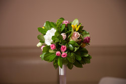 Гостевые композиции из живых цветов