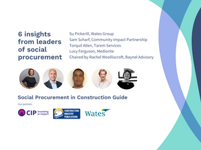 6 insights from leaders of social procurement in construction