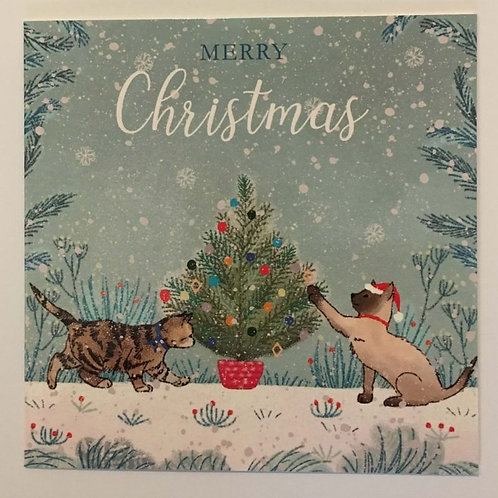 Pack of 10 Playful Cats Christmas Cards