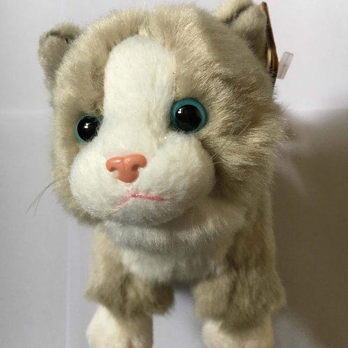 Living Nature Grey and White Soft Toy Cat