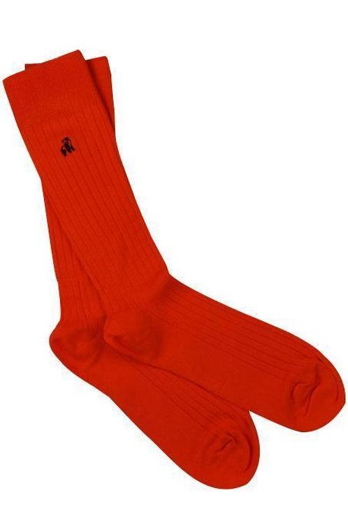 Swole Panda Mens Bamboo Socks - Classic Red Ribbed
