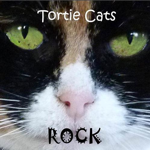 Tortie Cats Rock Magnet