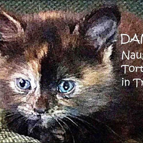 DANGER! Naughty Tortie In Training Cat Magnet