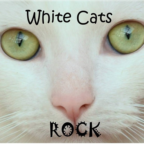 White Cats Rock Magnet