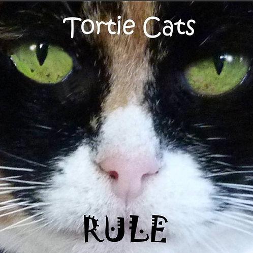 Tortie Cats Rule Magnet
