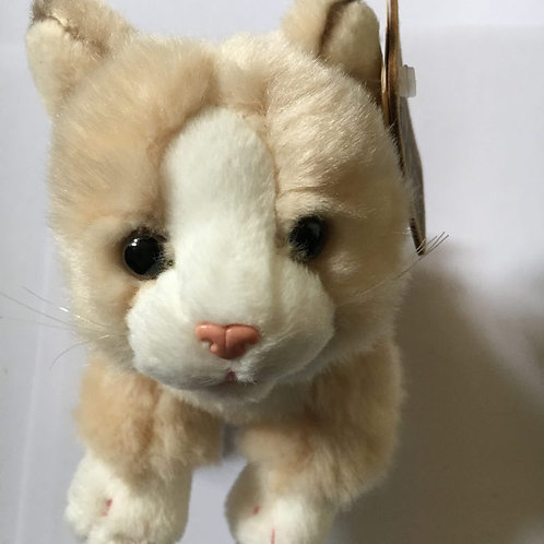 Living Nature Cream and White Soft Toy Cat