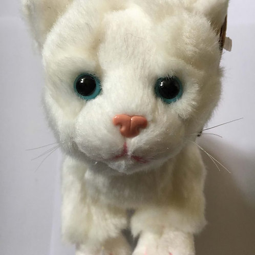 Living Nature White Soft Toy Cat