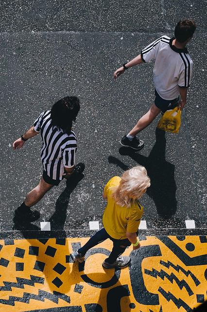 Top View of People Walking