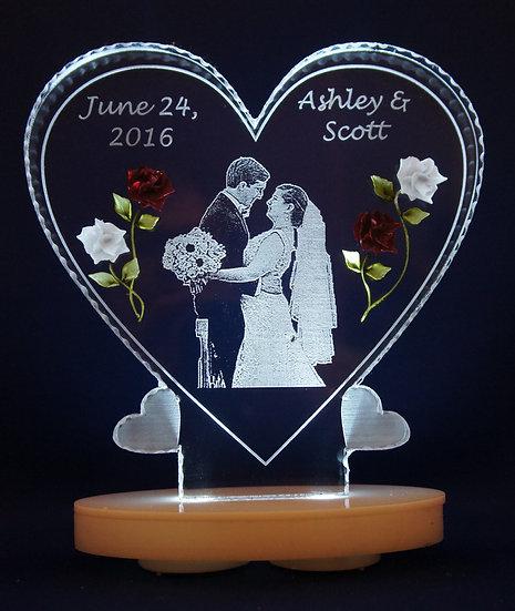 Wedding Momento Photo etched
