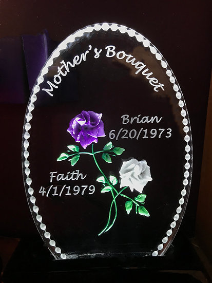 Engraved Mothers Day Bouquet of flowers- 2 Rose