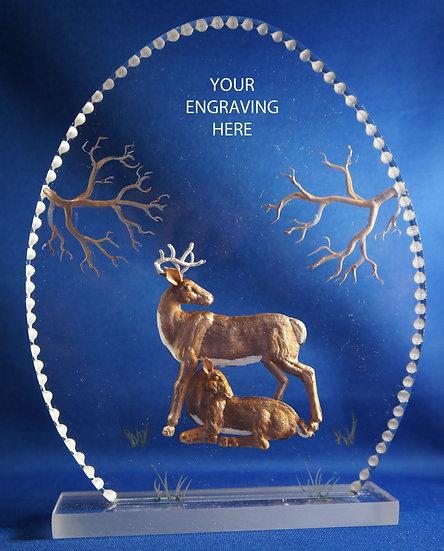 wedding gift cake topper deer
