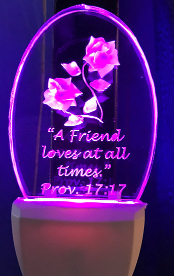 A Friend loves at all times night light