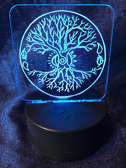 Tree of Life operated color changing night light
