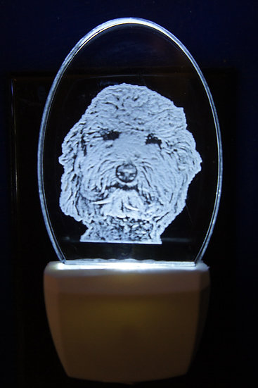 goldendoodle head night light