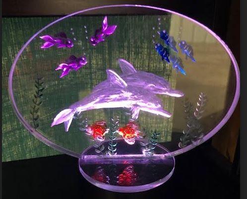 Dolphins scene on battery light