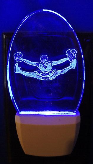 Cheerleader split night light