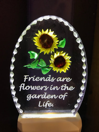 Friends are flowers night light