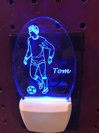 Soccer Male player Night Light