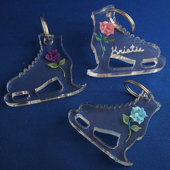 Ice Skate  shpaed  KEYCHAIN