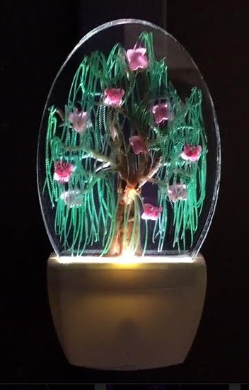 flowering willow night light