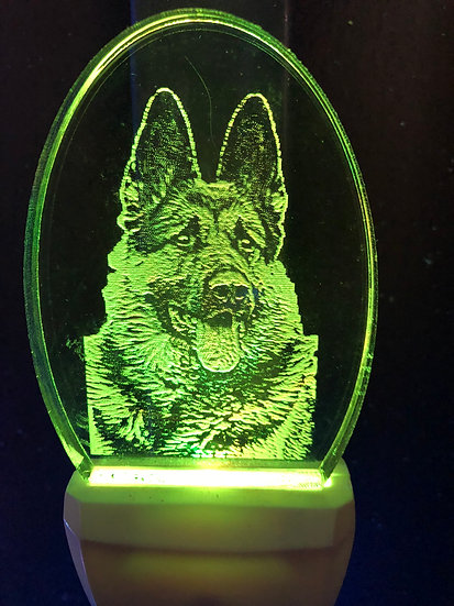 German shepherd head2 Night Light