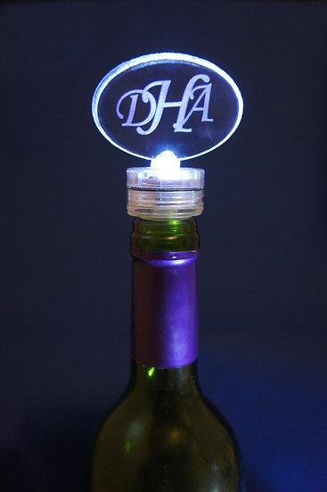 Monogram Bottle stopper lighted
