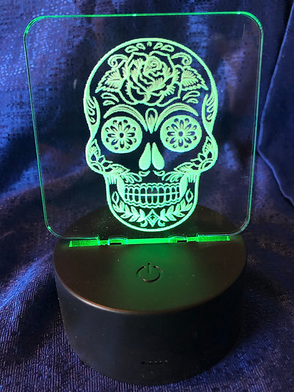 Sugar Skull Battery operated color changing night light