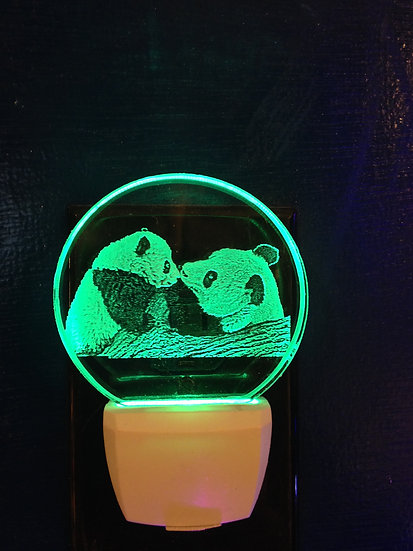 Panda and baby night light