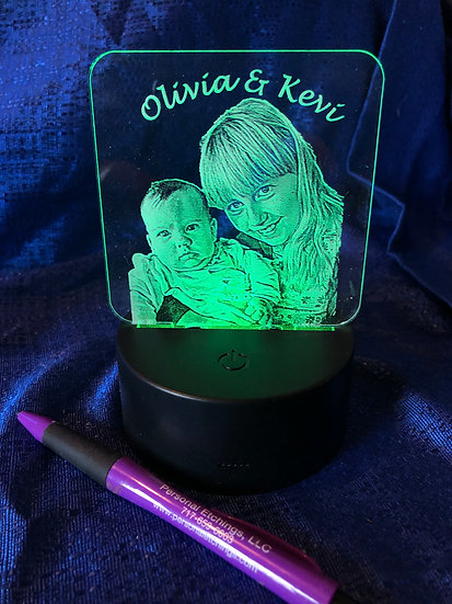Custom photo Battery operated color changing light
