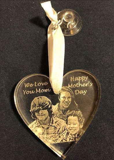 Your Family photo etched ornament