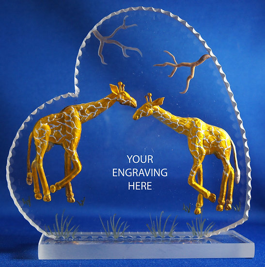 wedding gift cake topper giraffes
