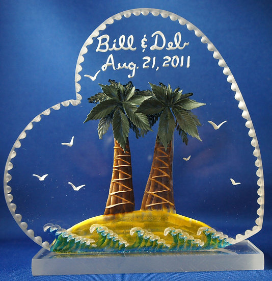 wedding gift cake topper Palm Trees