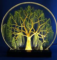 7 inch circle willow on black LED base.J